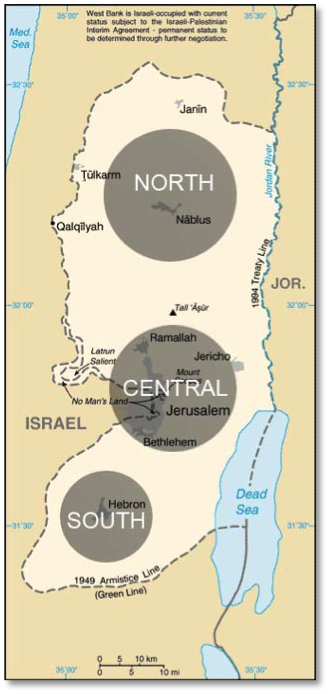 West Bank Divisions