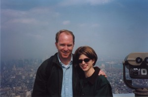 Colleen and Craig at the top of the World Trade Center in 1999.