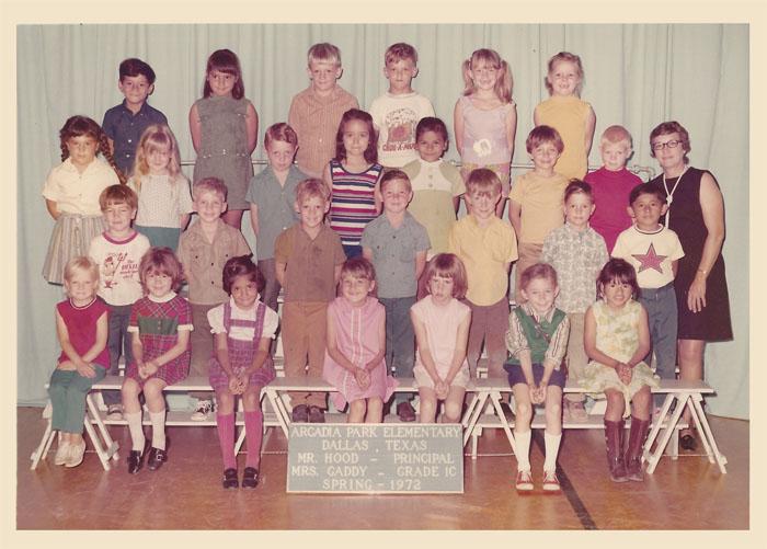 1st Grade (1C), Spring 1972, Arcadia Park Elementary School