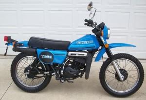 SuzukiTS100Blue