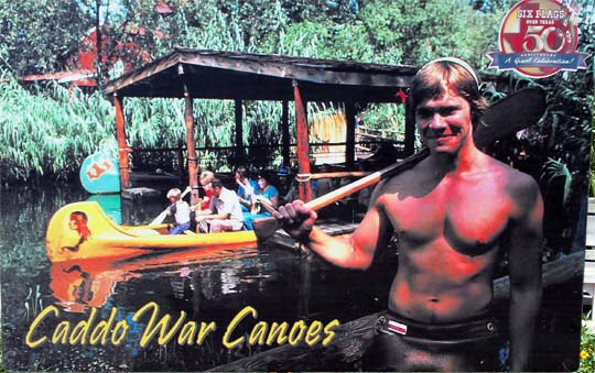 Caddo War Canoes at Six Flags Over Texas.