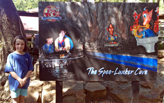 Spee-Lunker's Cave at Six Flags Over Texas, circa 1960s.