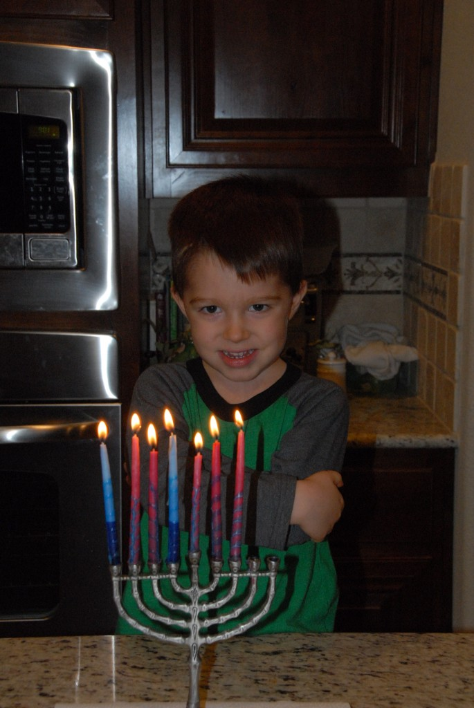 Grace at Hanukkah.