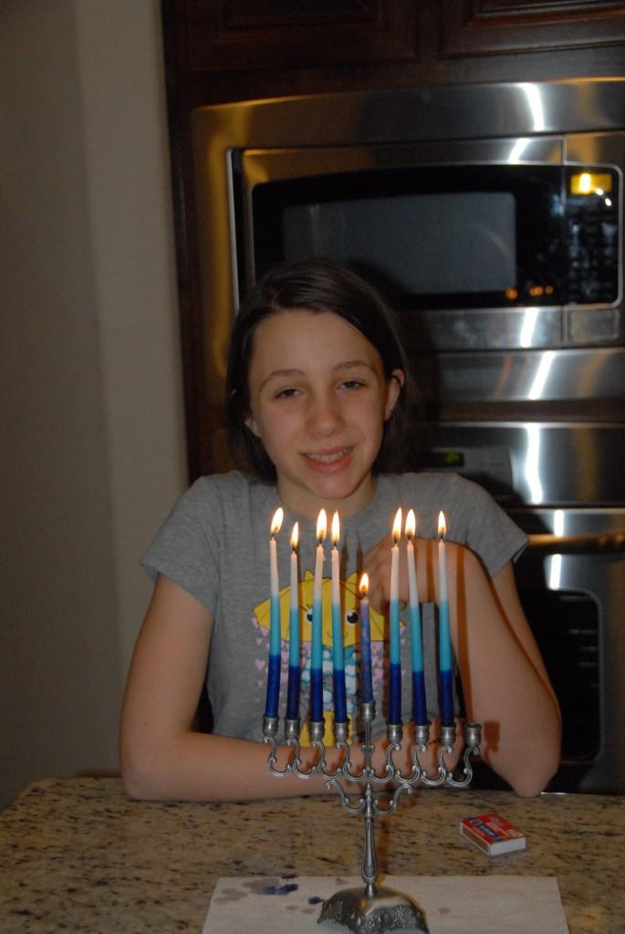 Grace at Hanukkah.
