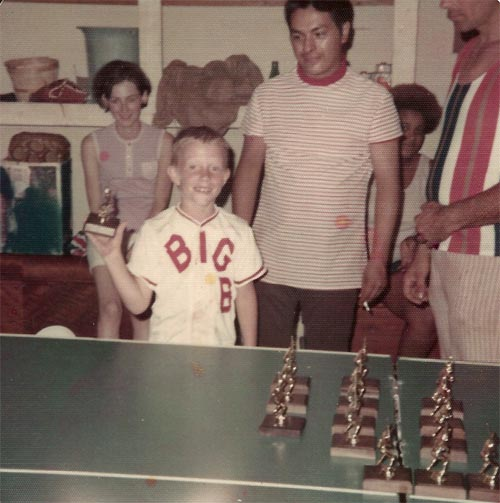 Craig receives his first trophy, Summer 1973.
