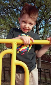 Zach at the playground (3/26/2016).