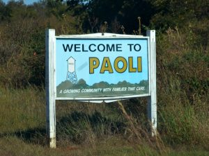 Welcome to Paoli, Oklahoma